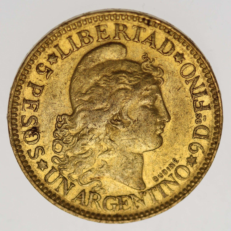 argentinien - Argentinien 5 Pesos / Argentino 1883