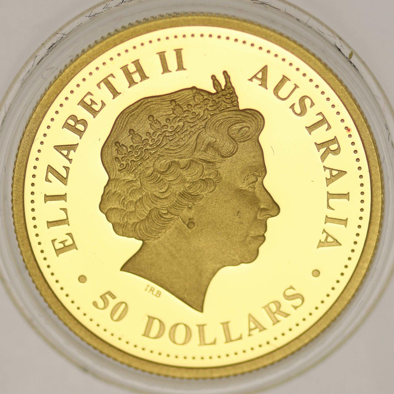australien - Australien Elisabeth II. 50 Dollars 2008 Discover 1/2 OZ Koala