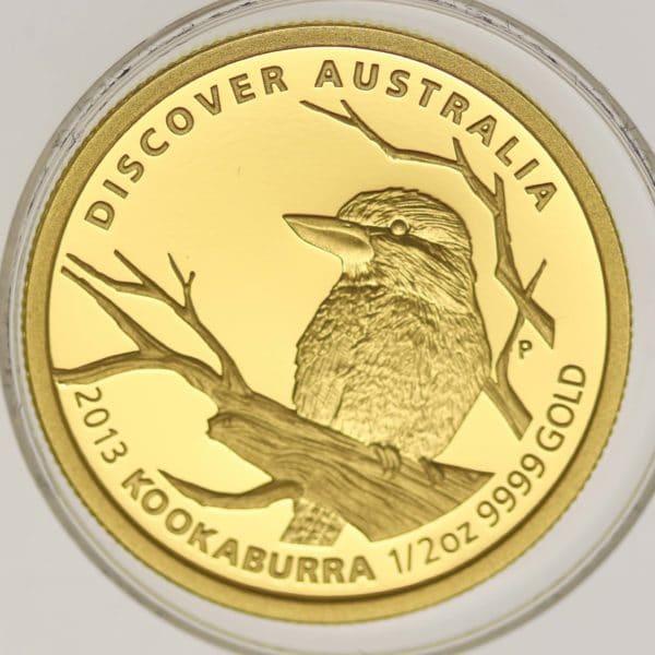 australien - Australien Elisabeth II. 50 Dollars 2013 Discover 1/2 OZ Kookaburra
