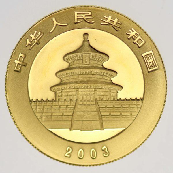 china - China Panda 1/2 Unze 2003