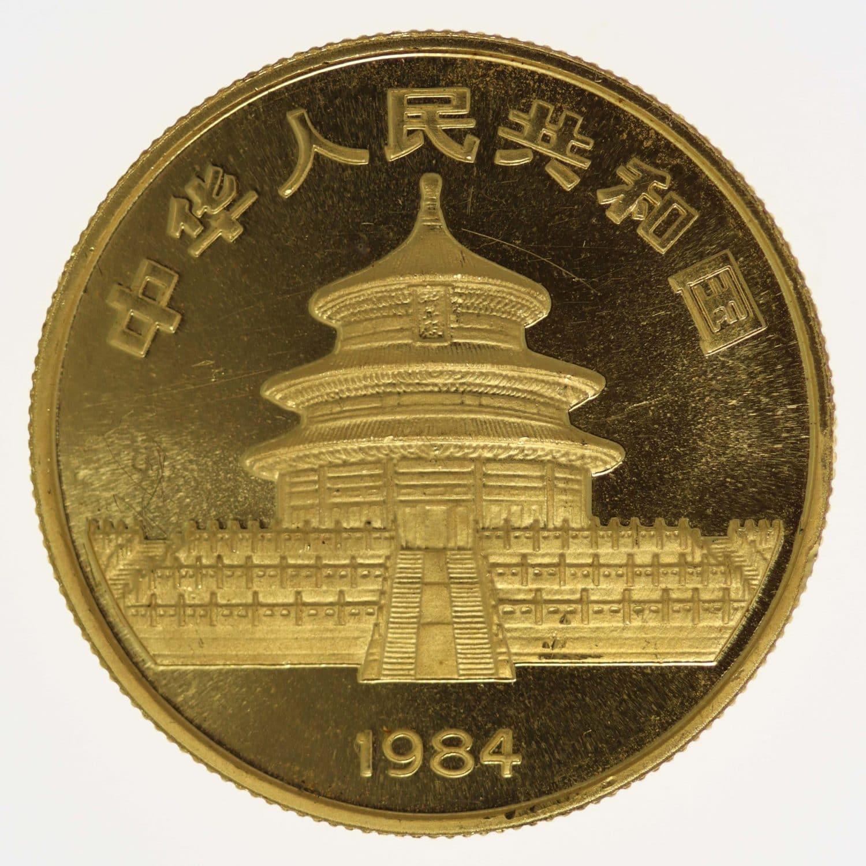 china - China Panda 1/2 Unze 1984