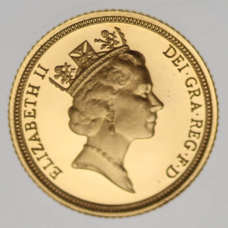 grossbritannien - Großbritannien Elisabeth II. Half Sovereign 1990