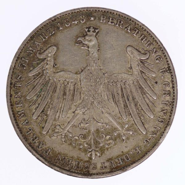 altdeutschland-deutsche-silbermuenzen - Frankfurt Stadt Doppelgulden 1848