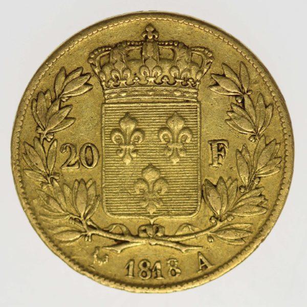 frankreich - Frankreich Louis XVIII. 20 Francs 1818 A