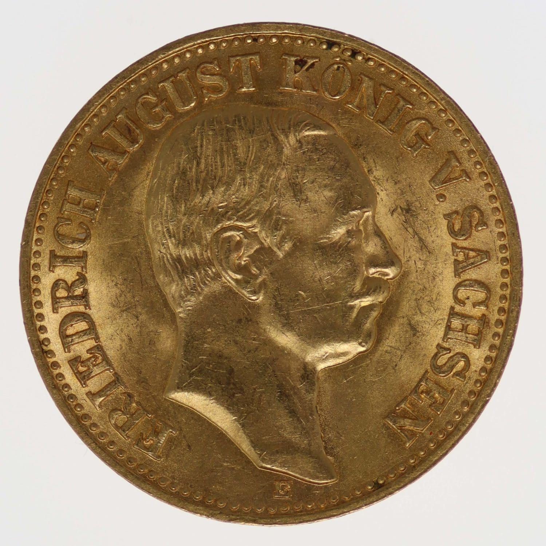 deutsches-kaiserreich-ab-1871 - Sachsen Friedrich August 10 Mark 1912