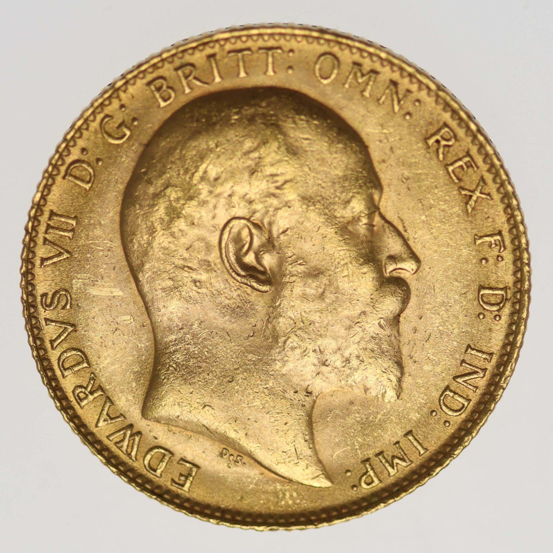 grossbritannien - Großbritannien Edward VII. Sovereign 1909