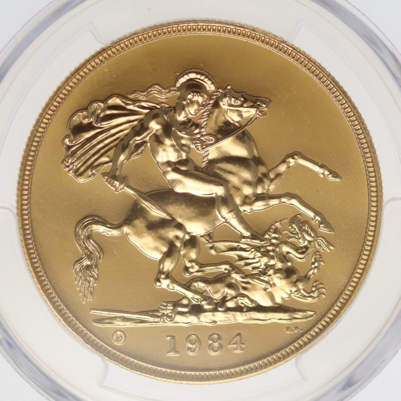grossbritannien - Großbritannien Elisabeth II. 5 Pounds 1984