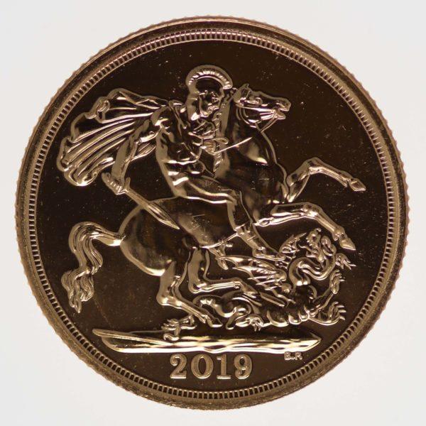 grossbritannien - Großbritannien Elisabeth II. Sovereign 2019