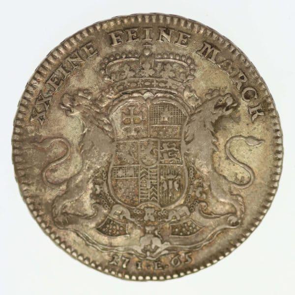 altdeutschland-deutsche-silbermuenzen - Hanau Münzenberg Wilhelm IX. 1/2 Konventionstaler 1765