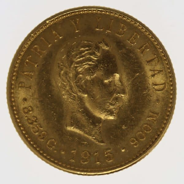 kuba - Kuba 5 Pesos 1915