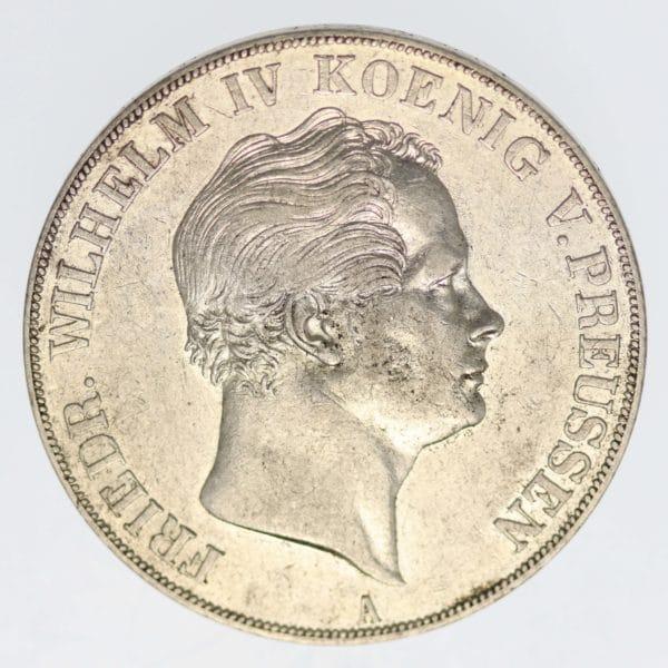 altdeutschland-deutsche-silbermuenzen - Preussen Friedrich Wilhelm IV. Doppeltaler 1841