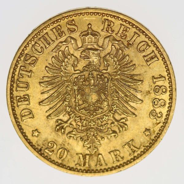 deutsches-kaiserreich-ab-1871 - Preussen Wilhelm I.20 Mark 1883 A