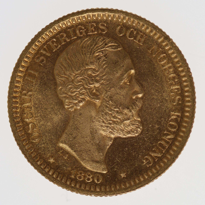 schweden - Schweden Oskar II. 20 Kronen 1880 EB
