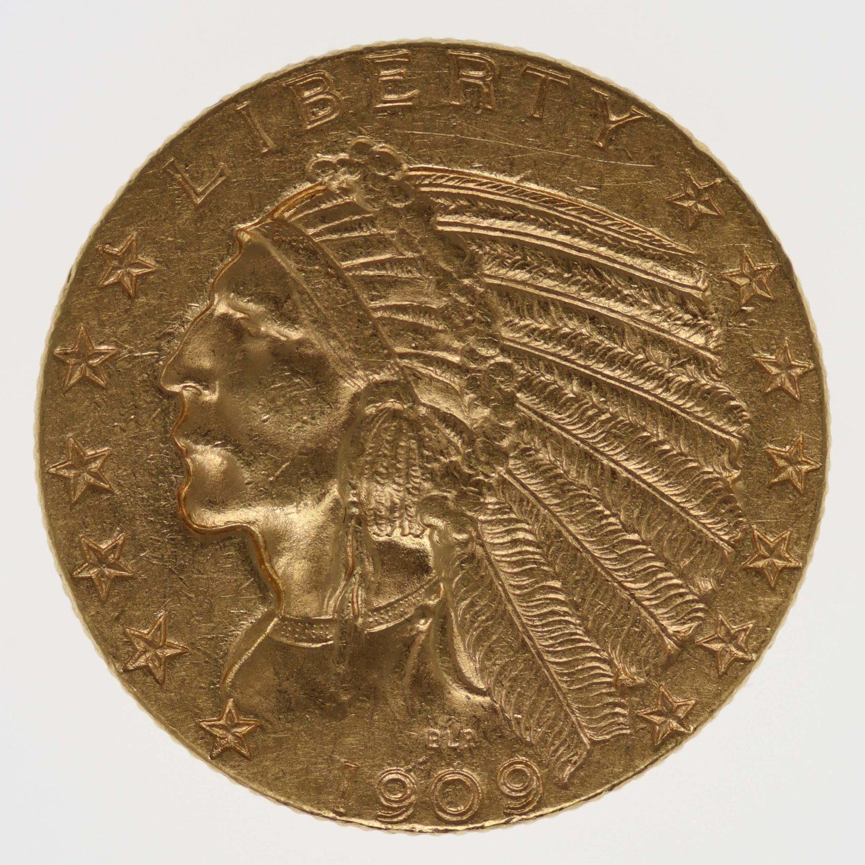 usa - USA 5 Dollars 1909 D Indianer