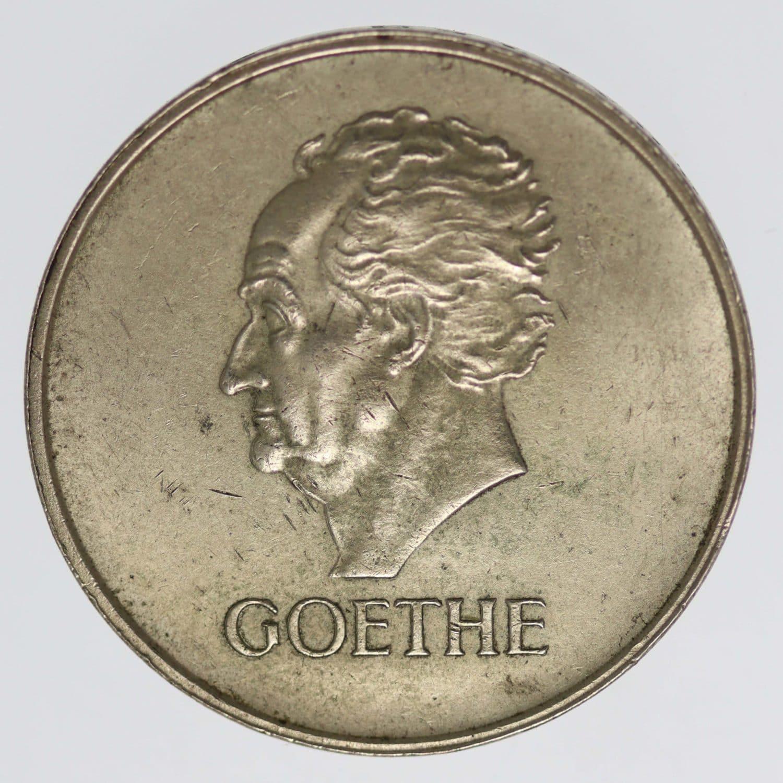 weimarer-republik-deutsche-silbermuenzen - Weimarer Republik 3 Reichsmark 1932 J Goethe
