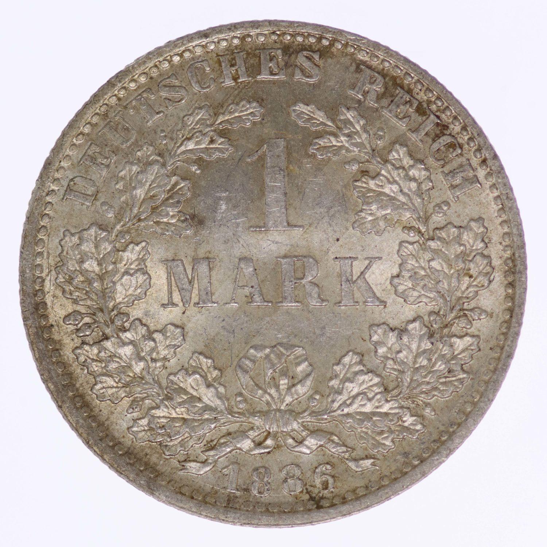 deutsches-kaiserreich-ab-1871-deutsche-silbermuenzen - 1 Mark 1886 D