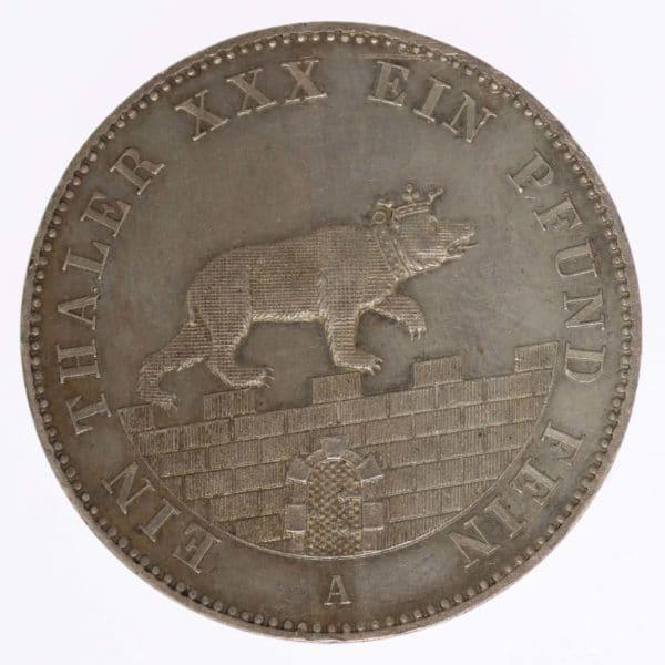 altdeutschland-deutsche-silbermuenzen - Anhalt Bernburg Alexander Carl Ausbeutetaler 1861