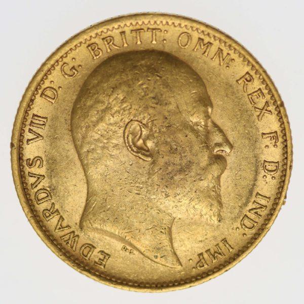australien - Australien Edward VII. Sovereign 1906 S
