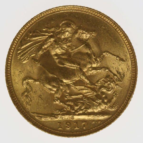 australien - Australien Georg V. Sovereign 1917 S