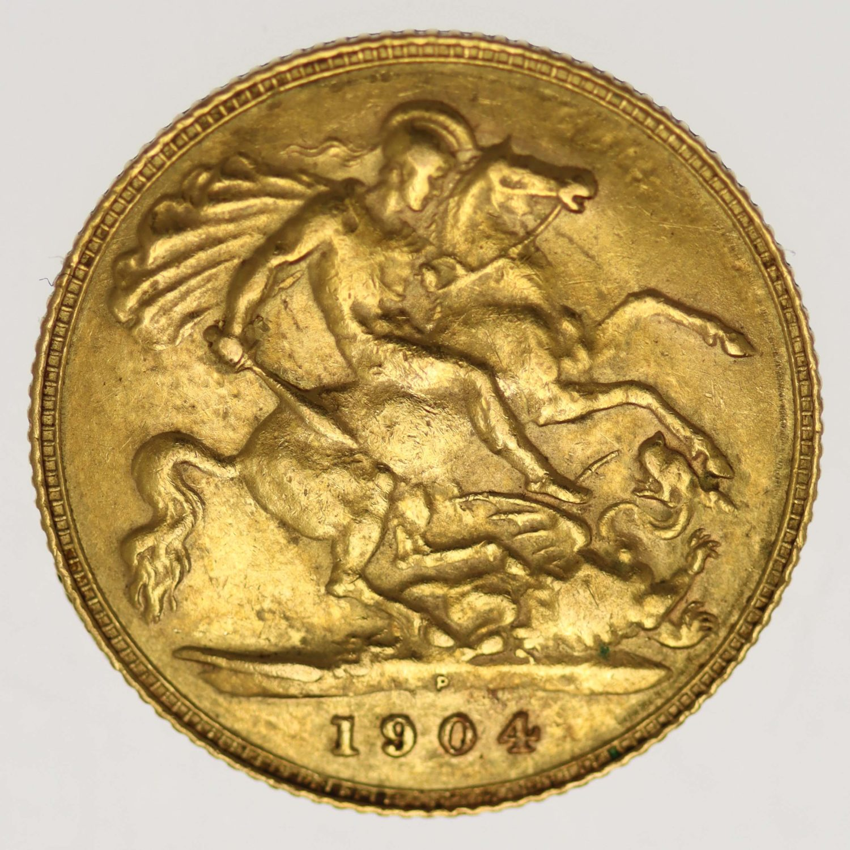 australien - Australien Edward VII. 1/2 Sovereign 1904 P