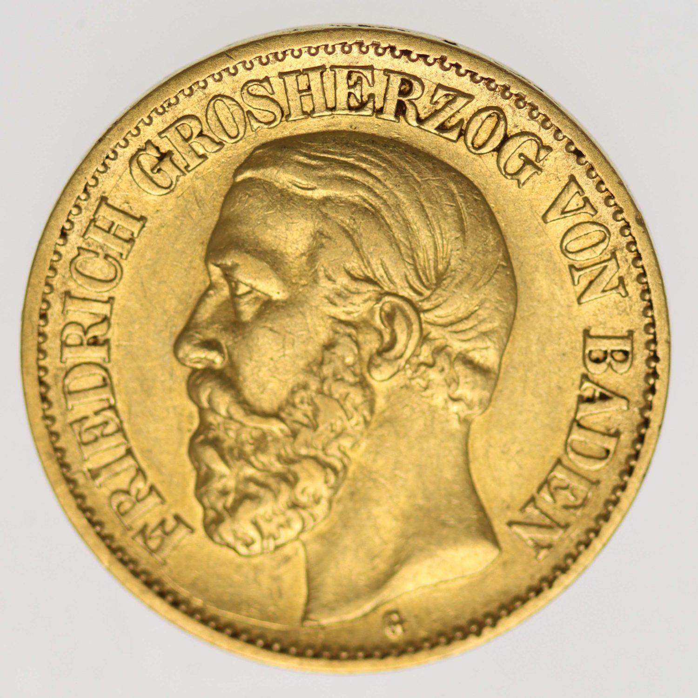 deutsches-kaiserreich-ab-1871 - Baden Friedrich I. 10 Mark 1897