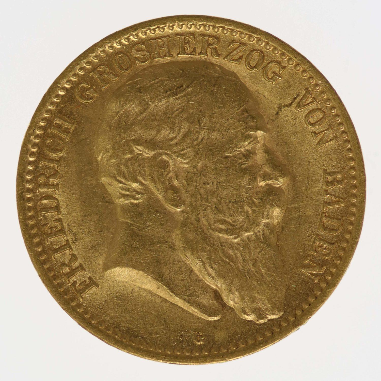 deutsches-kaiserreich-ab-1871 - Baden Friedrich I. 10 Mark 1906