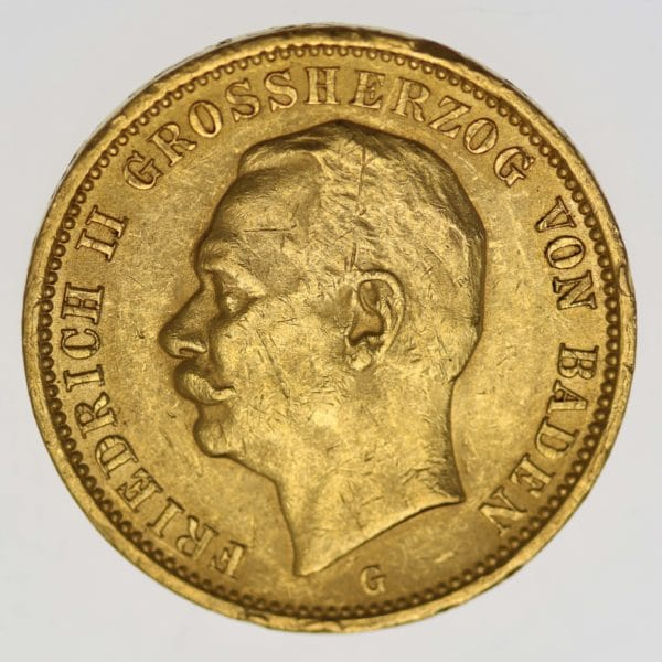 deutsches-kaiserreich-ab-1871 - Baden Friedrich II. 20 Mark 1912