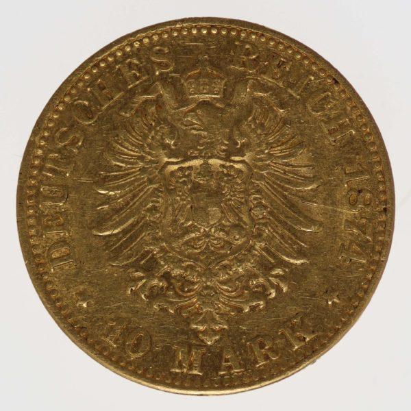 deutsches-kaiserreich-ab-1871 - Bayern Ludwig II. 10 Mark 1874