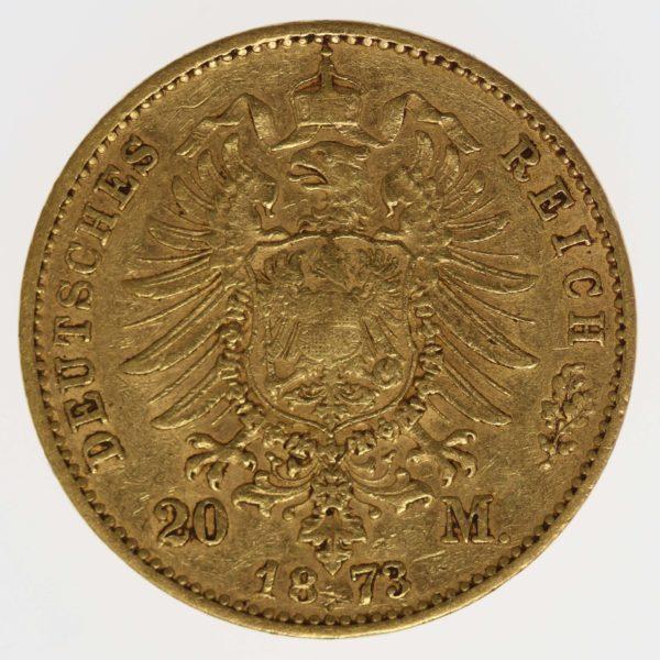 deutsches-kaiserreich-ab-1871 - Bayern Ludwig II. 20 Mark 1873