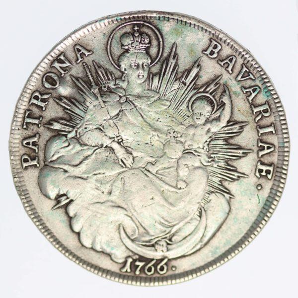 altdeutschland-deutsche-silbermuenzen - Bayern Maximilian III. Joseph Taler 1766