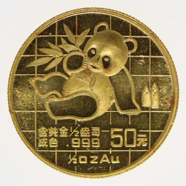 china - China Panda 1/2 Unze 1989
