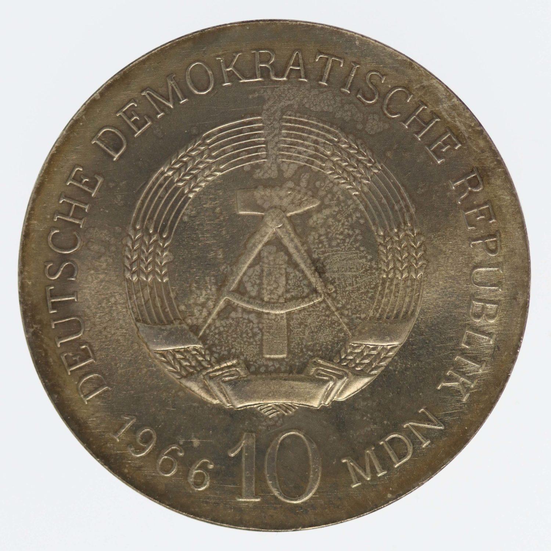 ddr-deutsche-silbermuenzen - DDR 10 Mark 1966 Schinkel