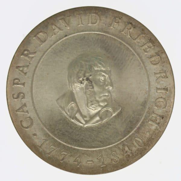 ddr-deutsche-silbermuenzen - DDR 10 Mark 1974 Friedrich