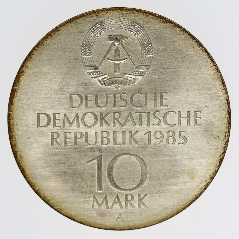 ddr-deutsche-silbermuenzen - DDR 10 Mark 1985 Semperoper