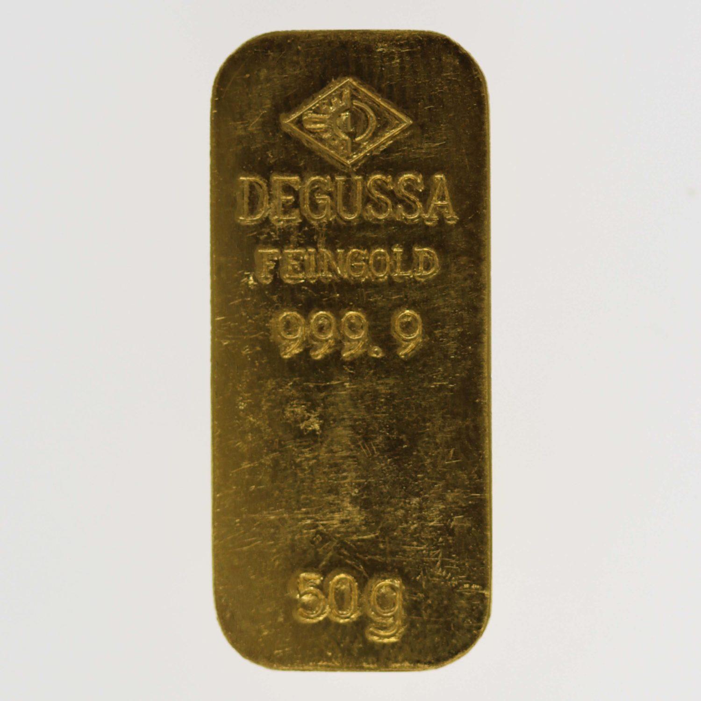 goldbarren - Goldbarren 50 GrammDegussa