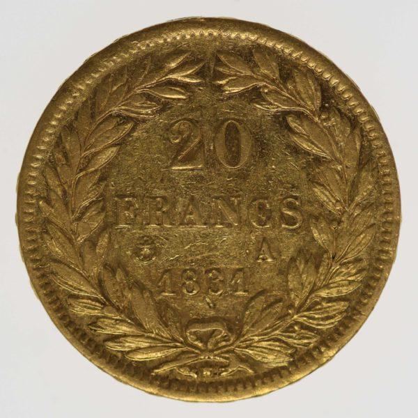 frankreich - Frankreich Louis Philippe I. 20 Francs 1831 A