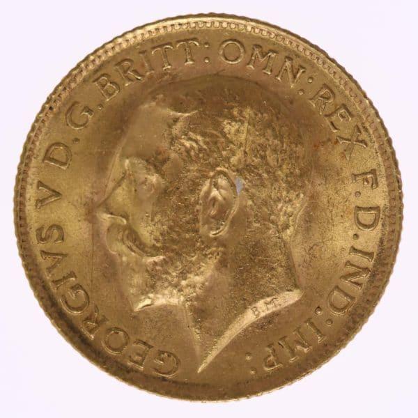 grossbritannien - Großbritannien Georg V. Half Sovereign 1914