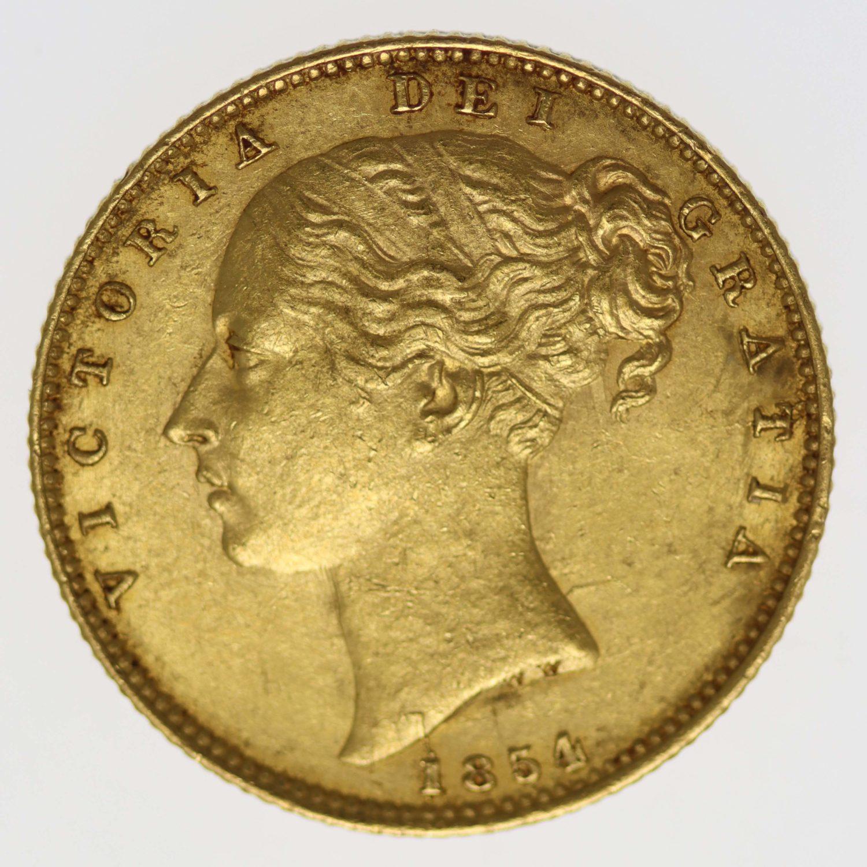 grossbritannien - Großbritannien Victoria Sovereign 1854
