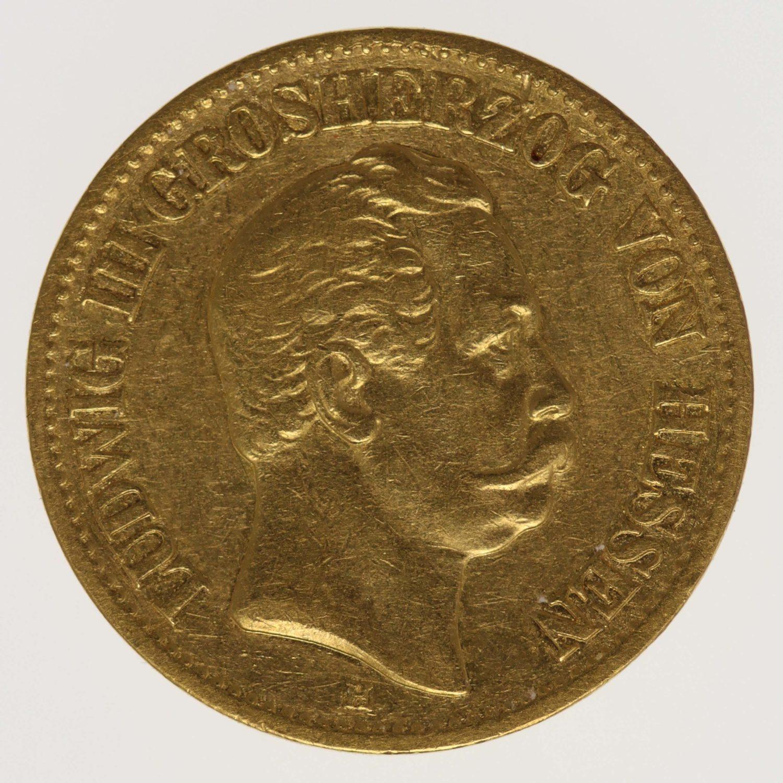 deutsches-kaiserreich-ab-1871 - Hessen Ludwig III.10 Mark 1876