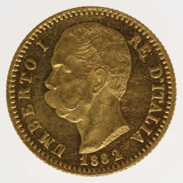 italien - Italien Umberto I. 20 Lire 1882