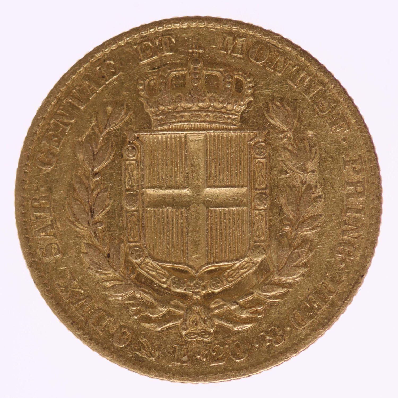 italien - Italien Sardinien Karl Albert 20 Lire 1832