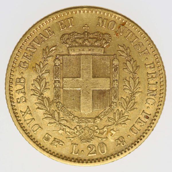 italien - Italien Sardinien Vittorio Emanuele II. 20 Lire 1850