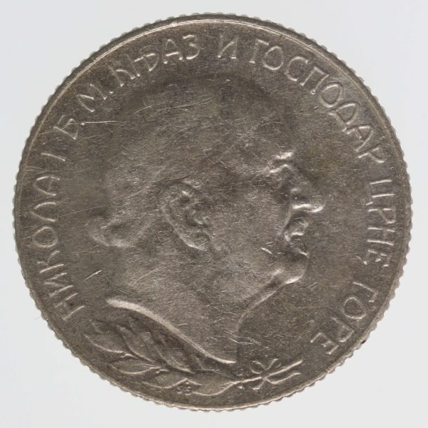 montenegro-silbermuenzen-uebriges-europa - Montenegro Nikolaus I. 1 Perper 1909