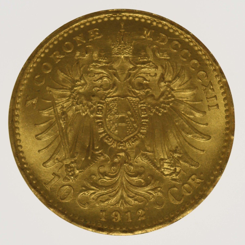 oesterreich - Österreich Kaiserreich Franz Joseph I. 10 Kronen 1912 off. NP