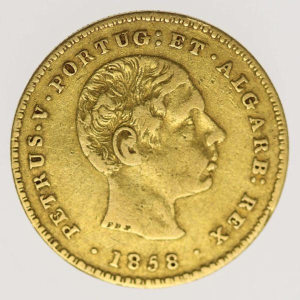portugal - Portugal Peter V. 2000 Reis 1858