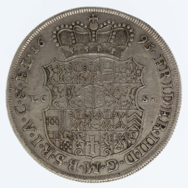 altdeutschland-deutsche-silbermuenzen - Preussen Friedrich III. Albertustaler 1695