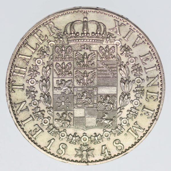 altdeutschland-deutsche-silbermuenzen - Preussen Friedrich Wilhelm IV. Taler 1848