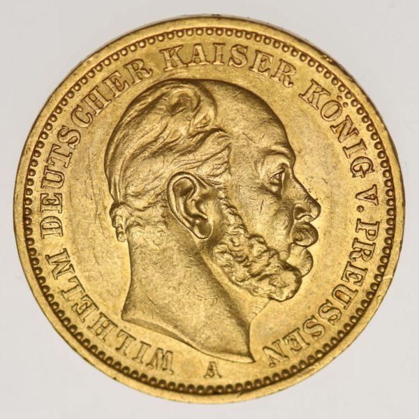 deutsches-kaiserreich-ab-1871 - Preussen Wilhelm I.20 Mark 1886 A