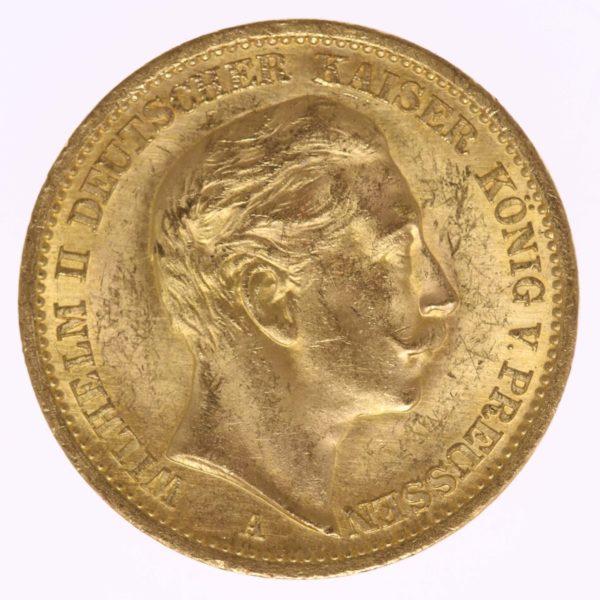 deutsches-kaiserreich-ab-1871 - Preussen Wilhelm II.20 Mark1908 A