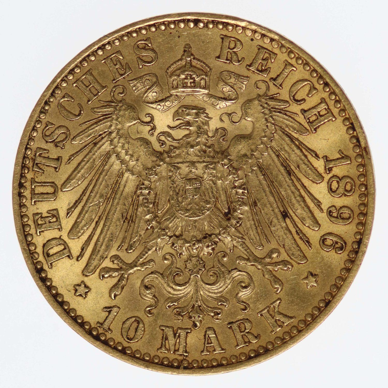 deutsches-kaiserreich-ab-1871 - Sachsen Albert 10 Mark 1896